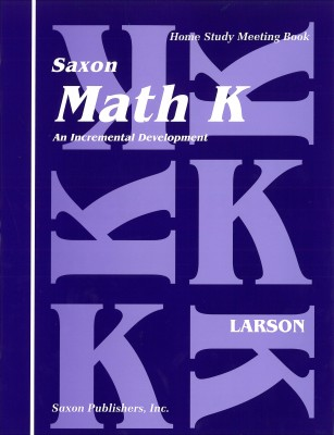 Saxon Math K: Meeting Book only