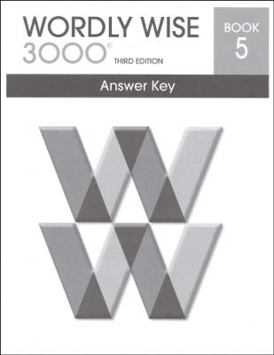Wordly Wise 3000 3rd edition Book 5 Answer Key